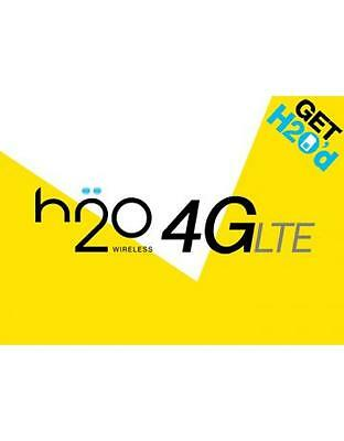 H2O Wireless $30 Monthly Unlimited Plan Talk, Text, 3GB Data, Same Day Refill!