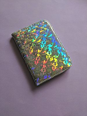 Holographic Passport Cover Cute Travel Bag Iridescent Faux Leather Passport Case