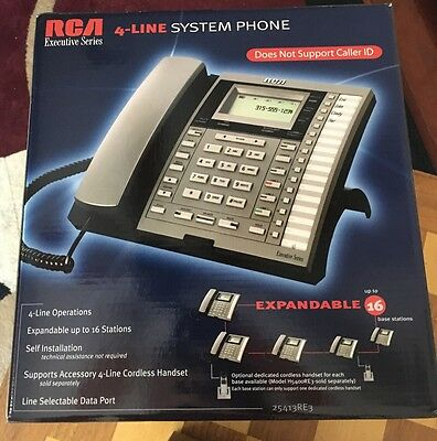 New RCA Executive Series Model 25413RE3-A 4 Line Business Phone NIB