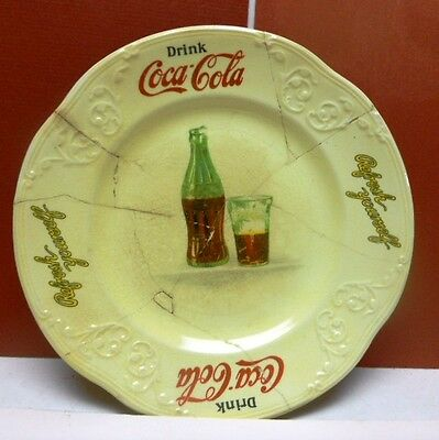 1930s Coca-Cola Sandwich Plate-Made by Knowles-Repaired -Has a Lot of Character!