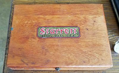 "STARRETT Steel Machinist Square  No. 55  4 1/2"" In Wooden Case"