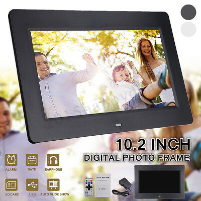 "Black HD 10.2"" Digital Photo Frame Picture Video Movie Player Remote Control"