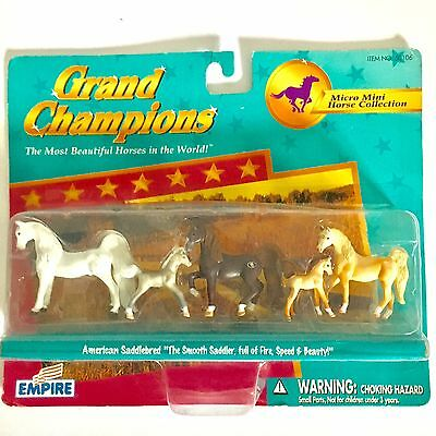 Grand Champions Micro Mini Horse Collection Saddlebred 50106 Play Set New in Box