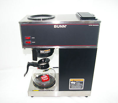 Bunn VPR Series 2 Burner Coffee Maker Black with funnel, pitcher & pot
