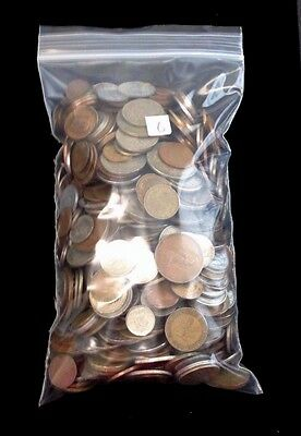 Mixed Lot of Old & New Foreign Coins Various Countries  5 lbs pounds  #6