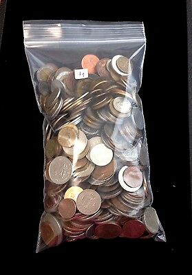 Mixed Lot of Old & New Foreign Coins Various Countries  5 lbs pounds  #4