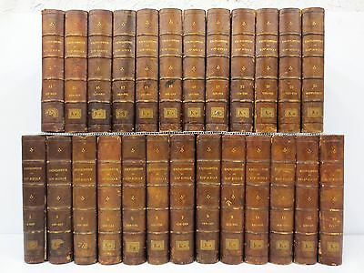 Antique Encyclopedia 1867 COMPLETE 25 Volumes Illustrated 19th XIX Century Paris