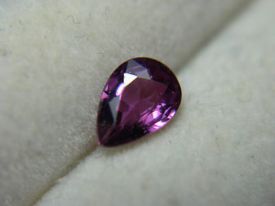 rare Purplish Red Siam Ruby gem pear cut Natural gemstone Fluorescent 0.50ct