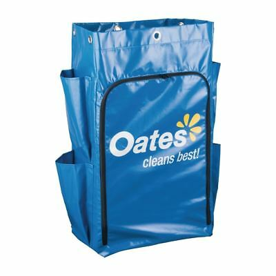 Oates Platinum Janitors Cart Replacement Zip Bag 4 Side Pockets Laundry