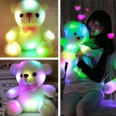 7 Color LED Colorful Light Staining Teddy Bear Christmas Gifts Soft Bear