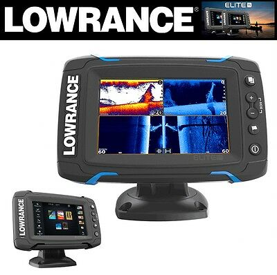 Lowrance Touchscreen Fishfinder / Chartplotter Mid/high/total Scan Elite-5 Ti
