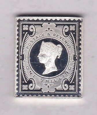 Victorian Jubilee Shilling Silver Stamp Ingot In Near Mint Condition