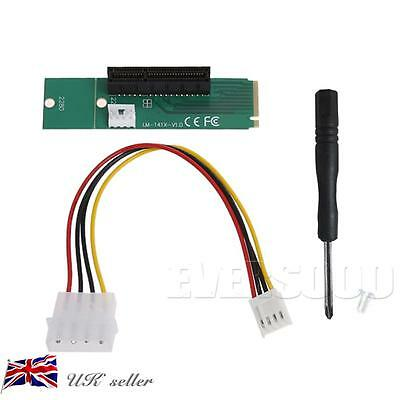 M.2 NGFF SSD to PCI-e Express 4X Converter Adapter Card + 1 screw & screw driver