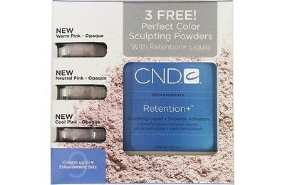 CND 3 FREE Perfect Color Sculpting Powders  with Retention+  Liquid (236 ml)