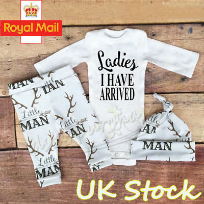 Premature Unisex Newborn Tiny Baby Girl Boy Romper Top Pants Hat Outfits Clothes