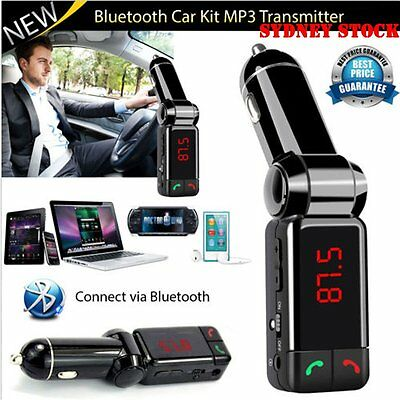 Bluetooth Handsfree Dual USB Car Kit Wireless Charger MP3 Player FM Transmitter!