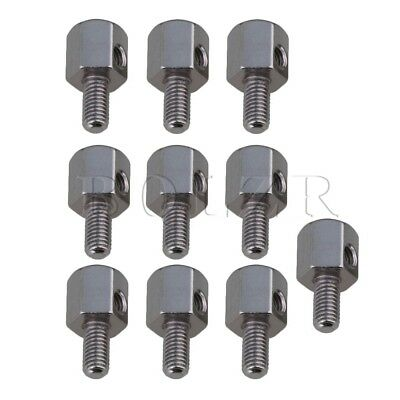 Zinc Alloy Banjo Lugs Guitar Screw Accessories Set of 10 Silver