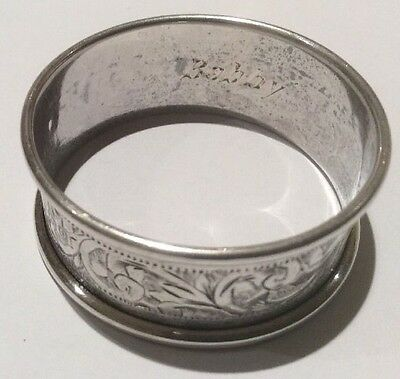 EnglIsh Sterling Silver Napkin Ring - Patterson & Sons Ltd - 1913