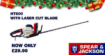 BIG SALE! RRP £69.99 Spear & Jackson  600W 66cm Hedge Trimmer