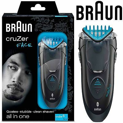 Braun Cruzer 5 Men's Adjustable Facial Hair Shaver 3-in-1 Rechargeable Trimmer