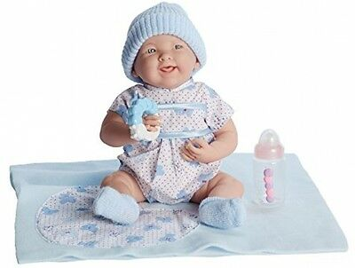 JC Toys La Newborn 15.5 Soft Body Blue Boutique Realistic Baby Doll Gift Set