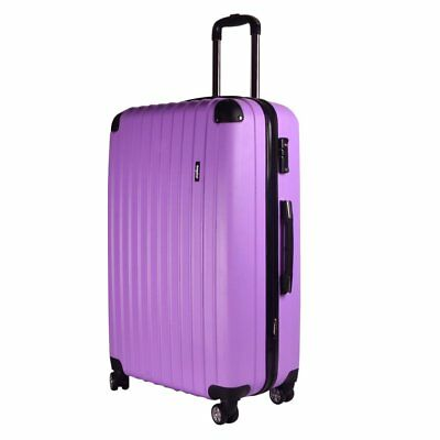 28 Purple Large Hardshell ABS Travel Luggage Suitcase 4Wheel Spinner Trolley Bag