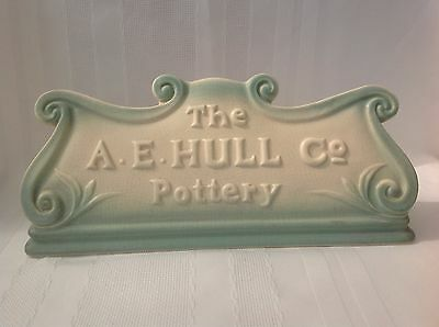 The A.E. Hull Pottery Co Advertising Sign THE HOLY GRAIL OF HULL!! Wow