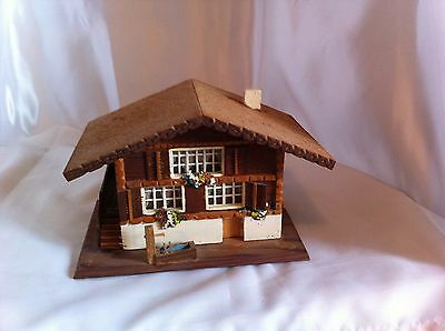 Vintage Wooden Christmas Village Chalet Mountain Cabin/Lodge