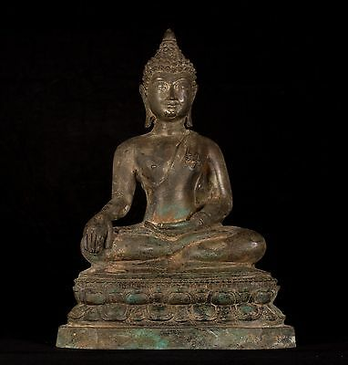 19th Century Antique Chiang Saen Enlightenment Buddha Statue - 40cm/16""