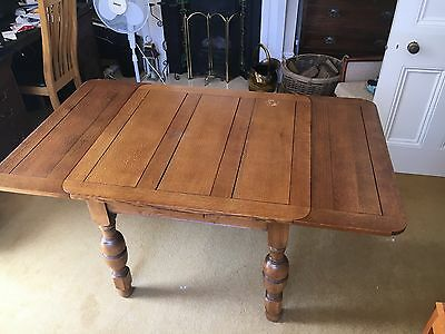 Oak Draw Leaf Dining Table 1930s/40s