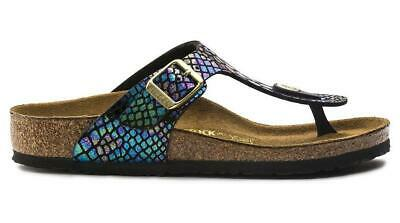 NEW Birkenstock Gizeh Shiny Snake Black Multi