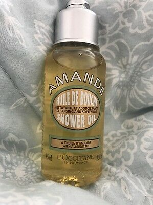 ✨ BRAND NEW L'occitane 75ml Amande ALMOND OIL SHOWER OIL Huile De Douche ✨