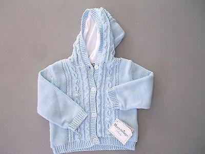Hartstrings Baby 24 months blue hoodie cardigan   sweater lined buttons NWT