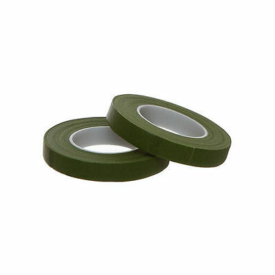 2 x Eco Paper Florist Tape Rolls / Dark Green / 12.5mm x 27m / Florist / Bouquet