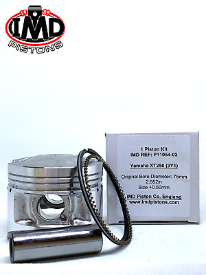 YAMAHA XT250 (3Y1)  +0.5mm oversize PISTON KIT NEW 1981-1984