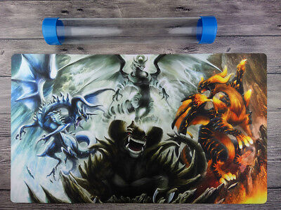 YGO Dragon Ruler Playmat Trading Card Game mat Free High Quality Tube【Brand new】