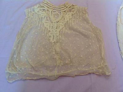 Vintage Antique Lace Blouses And Table Cloth
