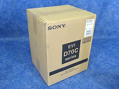NEW! SONY EVI-D70C/W 1/4-Inch CCD Pan/Tilt Zoom Color NTSC Video Camera WHITE
