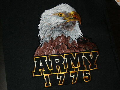 "US ARMY  Large Back Patch ""ARMY 1775"" with EAGLE. Iron on or Sewn on"