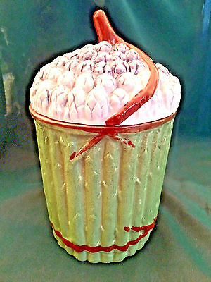 ESTATE~Pizzato Porcelain Asparagus Container~Canister~Hand Painted~ Italy~RARE