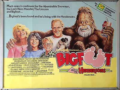 Cinema Poster: BIGFOOT AND THE HENDERSONS 1987 (Quad) John Lithgow
