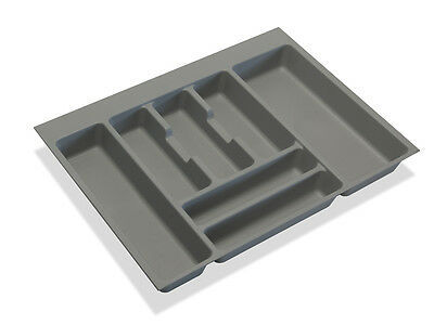Cutlery Tray Inserts / Kitchen Drawers / Grey Plastic / Variouse Sizes 400-1200