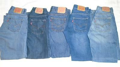 Lot of Boys Size 14 Levi's Jeans 511-Skinny 514-Straight 505-Straight (5 Pairs)
