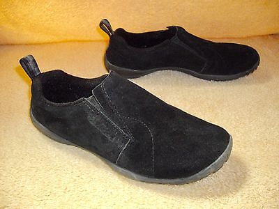 Merrell M Connect Slip On Moc Shoes, Women 6.5, Black Suede, Lightweight, Clean