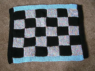 Hand knitted dog or cat blanket