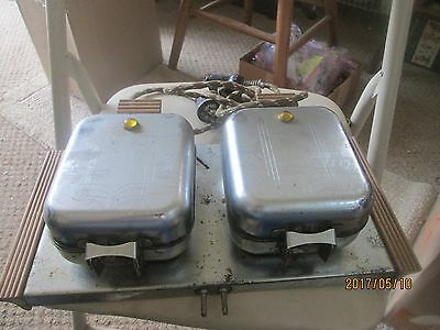 Vintage Electric Square Dual Waffle Iron Brunchmaster Excel W-50 1950's