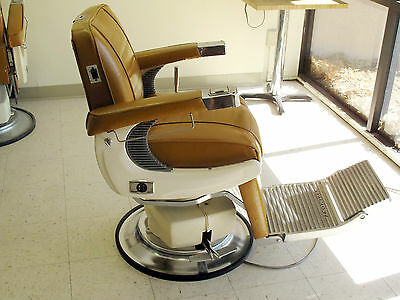 Vintage Belmont Electric Hydraulic Barber Chairs - Excellent!
