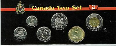 2015 Canadian Brilliant Uncirculated Six Coin Year Set in Nice Display!