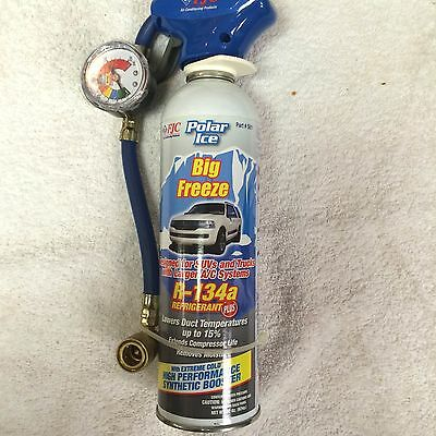 R134A, Big Freeze Refrigerant w/Easy Fill Trigger Valve & Pressure Gauge 22 OZ.