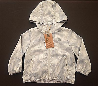 BNWT - TIMBERLAND RRP £55.00 Baby Boys Light Grey Hooded Jacket - Age 4 years